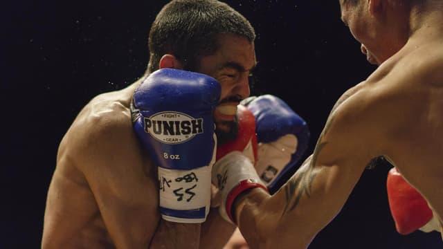 Karim Guerfi lors d'un combat en 2018 à Singapour