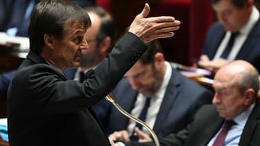L'ex-ministre de la Transition écologique et solidaire Nicolas Hulot, lors d'une session de questions au gouvernement à l'Assemblée, le 20 mars 2018 à Paris.