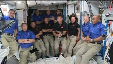 Thomas Pesquet dans la Station spatiale internationale, le 24 avril 2021.