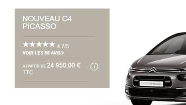 Citroën propose à ses clients de noter leurs concessionnaires ou leur nouveau véhicule pour publier ensuite les avis directement sur son site internet.