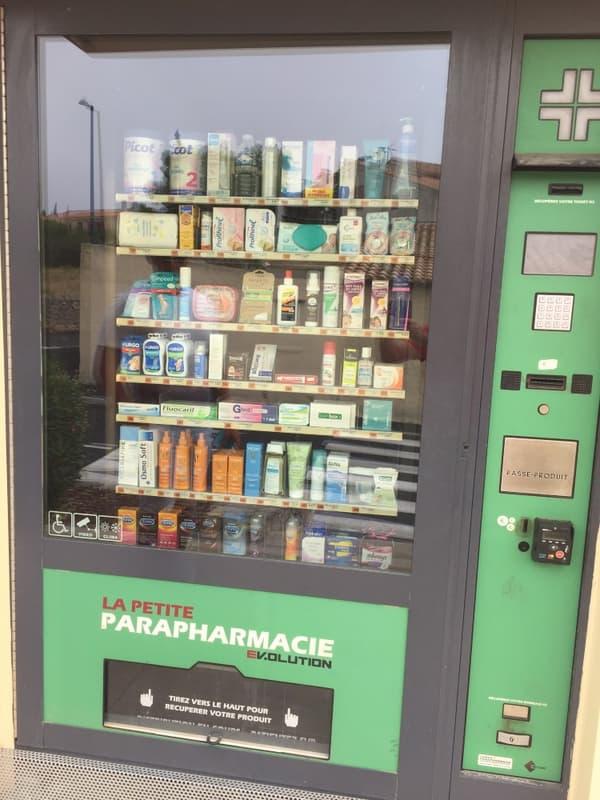 Un distributeur de produits de parapharmacie à Leucate (Aude)