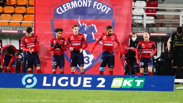 Les joueurs de Clermont (Ligue 2)