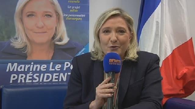 Marine Le Pen, ce lundi soir.