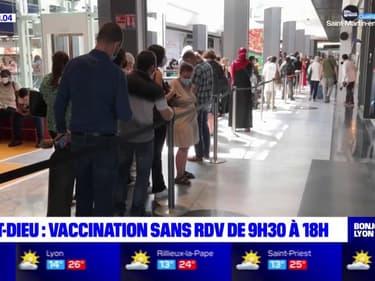 Lyon: la vaccination sans rendez-vous de retour à la Part-Dieu