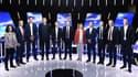 Les 11 principales têtes de liste lors du débat sur notre antenne, jeudi soir.