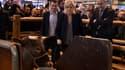 Marine Le Pen en compagnie de Florian Philippot et de Cerise au Salon de l'agriculture 2016