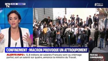 Confinement: Emmanuel Macron provoque un attroupement