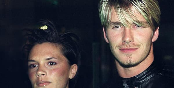 David et Victoria Beckham en 1999.
