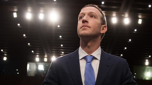 Mark Zuckerberg le 10 avril, devant le Sénat américain.