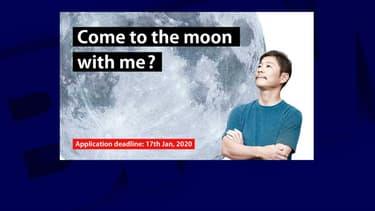 Tweet d'annonce de Yusaku Maezawa pour trouver une partenaire qui l'accompagnera sur la lune