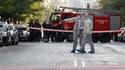 Un colis a explosé lundi au siège d'une société de courrier à Athènes tandis que des artificiers de la police ont désamorcé deux autres bombes dissimulées dans des paquets, dont l'un était destiné au président français Nicolas Sarkozy. /Photo prise le 1er
