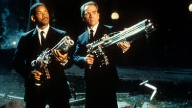 Will Smith et Tommy Lee Jones dans Men In Black en 1997.
