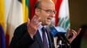 Alain Juppé, jeudi, au siège des Nations unies à New York, où il s'est rendu pour convaincre les membres du Conseil de sécurité de voter une résolution autorisant une intervention militaire en Libye. La France s'est dit confiante dans le vote de ce texte.