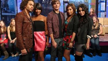 Une partie du casting d'Gigh School Musical, en ocotbre 2008