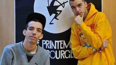 Les rappeurs Bigflo et Oli au Printemps de Bourges.
