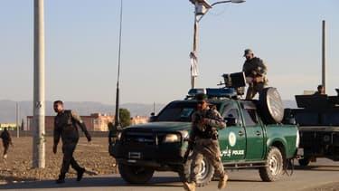 Forces de sécurité afghanes, le 23 novembre 2018 dans la province de Khost (Afghanistan)