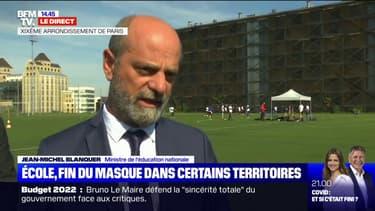 """Jean-Michel Blanquer: """"Élèves et adultes pourront ne pas porter le masque"""" à l'école lors de l'allègement du protocole dans certains départements"""