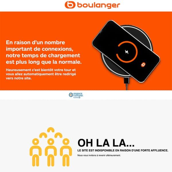 Les sites de Boulanger et Leclerc ce 19 novembre 2020 au matin