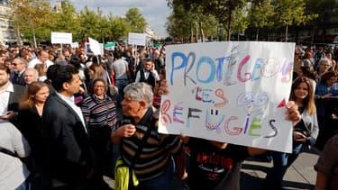 La grande manifestation à Paris le 5 septembre dernier, place de la République.