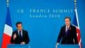 Nicolas Sarkozy et le Premier ministre du Royaume-Uni David Cameron, lors d'un sommet franco-britannique à Londres. La France et le Royaume-Uni ont initié un renforcement sans précédent de leur coopération militaire, y compris dans le domaine de la dissua