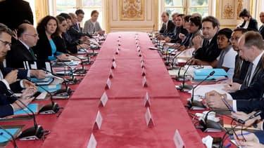 Bernard Cazeneuve a réuni plusieurs ministres cette après-midi.