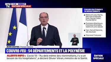 """Jean Castex: """"Ces mesures ne sont en aucun cas des sanctions"""" contre les secteurs économiques touchés par les mesures de restriction"""