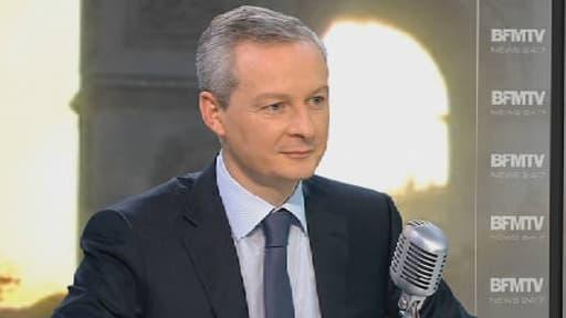 Bruno Le Maire sur le plateau de BFM le 13 novembre 2013.