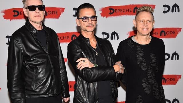 Le groupe Depeche Mode, le 11 octobre 2016 à Milan.