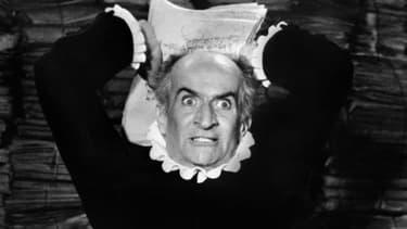 """Louis de Funès  interprète Harpagon dans """"L'Avare"""" de Molière, réalisé par Jean Girault en 1979."""