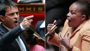 Le torchon brûle entre Manuel Valls et Christiane Taubira, à propos notamment de la réforme pénale.