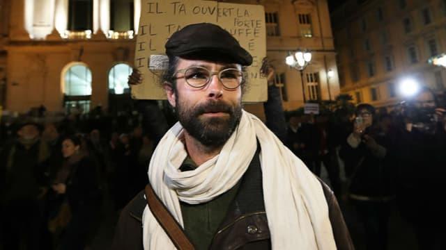 Cédric Herrou devant le palais de justice de Nice le 4 janvier 2017.