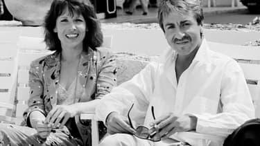Chantal Lauby et Bruno Carette lors du 38e Festival de Cannes, le 10 mai 1985