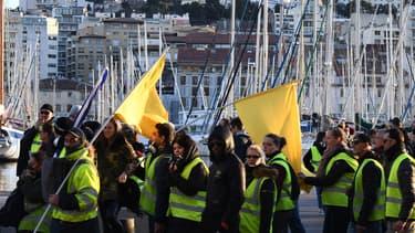 Les gilets jaunes à Marseille, le 26 janvier 2019.