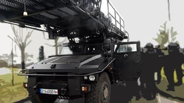 Ce véhicule d'assaut produit à la demande par Renault Trucks coûte 300.000 euros