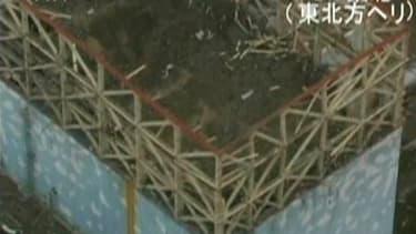 Le toit du réacteur numéro 1 de la centrale nucléaire de Fukushima. De l'eau hautement radioactive a été découverte dans le réacteur 1 de la centrale nucléaire japonaise de Fukushima accidentée à la suite du tremblement de terre du 11 mars suivi d'un tsun