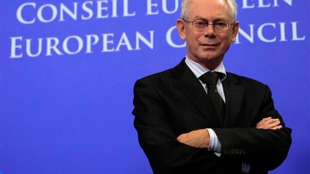 Le président du Conseil européen Herman Van Rompuy. De nombreux désaccords subsistent entre les dirigeants de l'Union européenne sur le détail de la future architecture de la zone euro, à la veille d'un sommet européen dont les résultats devront convaincr