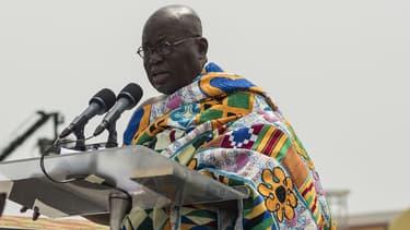 Nana Akufo-Addo, le nouveau président du Ghana, lors de sa prestation de serment le 7 janvier 2017