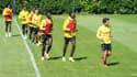 Les joueurs du FC Nantes à l'entraînement
