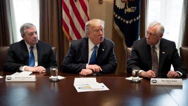 Donald Trump à la Maison Blanche, le 9 janvier.