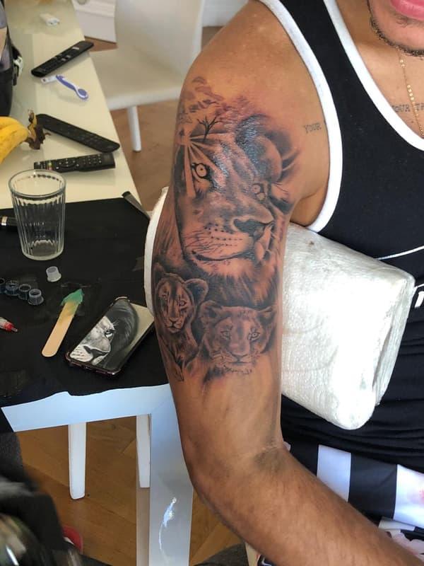 Le nouveau tatouage de Bruno Guimaraes