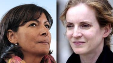 Anne Hidalgo et Nathalie Kosciusko-Morizet, candidates rivales pour la mairie de Paris.