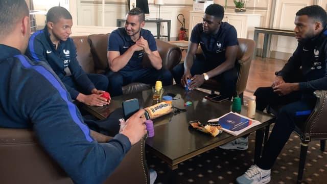Kylian Mbappé, Dimitri Payet, Samuel Umtiti et Thomas Lemar