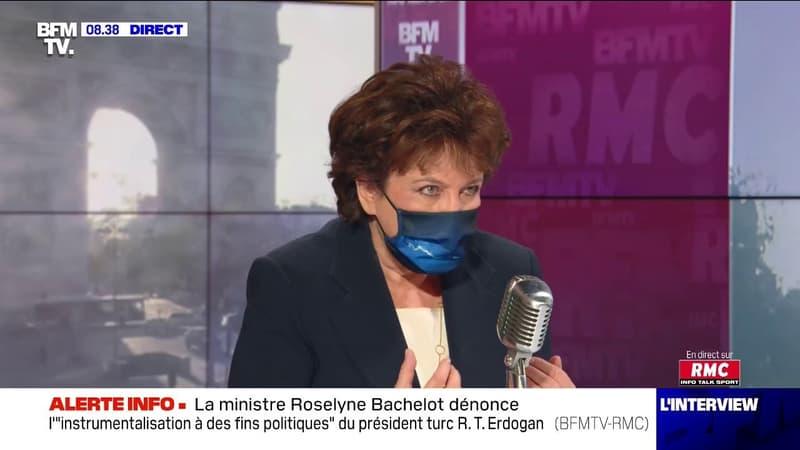 """""""Quelles que soient les décisions"""", la ministre de la Culture Roselyne Bachelot assure que le gouvernement ne """"laissera pas tomber"""" le monde de la culture"""