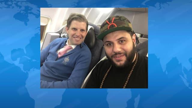 Mohammed Amer au côté d'Eric Trump