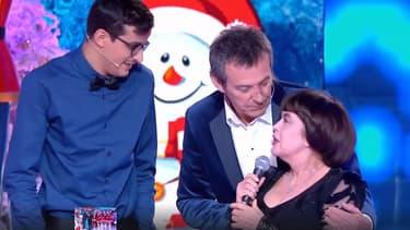 """Paul, Jean-Luc Reichmann et Mireille Mathieu, sur le plateau des """"12 coups de Noël"""" samedi 21 décembre."""