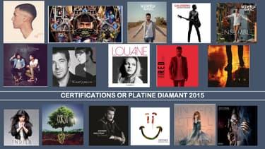 Les certifications 2015 sont probablement les dernières à ne se baser que sur les ventes de disques.