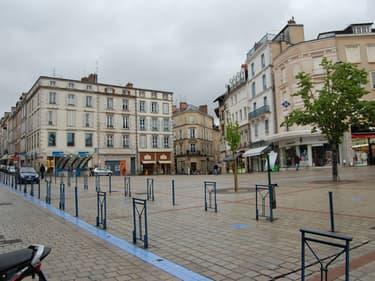 Vue de la place de la Motte à Limoges
