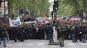 """La manifestation """"Front social"""", lundi 8 mai à Paris."""