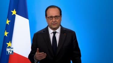 François Hollande lors de son discours de renoncement à l'Elysée