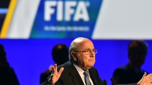 Sepp Blatter, le président controversé de la Fifa, était présent au congrès annuel de l'institution.